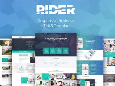 Rider | Multi-Purpose HTML5 Template modern clean creative market css3 html5 template website web design