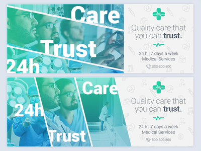 HealthCare - Social Media Cover/Profile Pack 2 template cover social media facebook medical services health care health