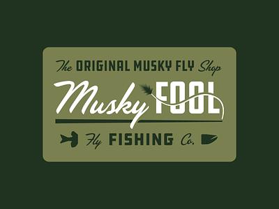 Musky Fool Fly Fishing Co. branding tackle bait fly fishing wisconsin fishing musky fly