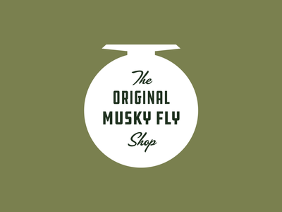 Musky Fool Fly Fishing Co. tackle bait reel wisconsin branding fishing musky fly fishing fly
