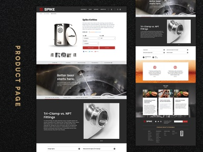 Product Page Web Design – Spike Brewing website brand web design brewing home brewing beer milwaukee wisconsin branding