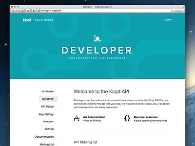 Developer Site for Kippt API apps kippt developer api flat flat design