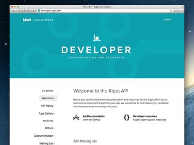 Developer Site for Kippt API