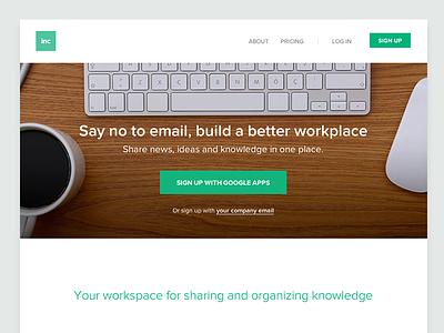 sendtoinc.com website inc sendtoinc kippt website web landing page flat startup communication email