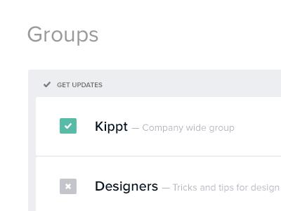 Inc Groups [wip] wip settings groups inc sendtoinc kippt flat flat design buttons toggle