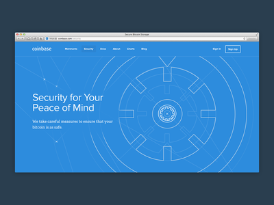 Coinbase Security security vault tour coinbase bitcoin blueprint technical flat flat design