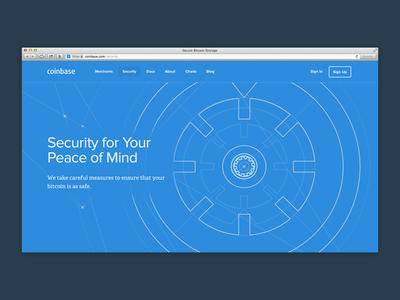 Coinbase Security security vault tour coinbase bitcoin blueprint technical flat flat design