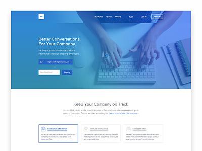New site for Inc inc flat kippt gradient website web site landing page
