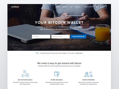 New Coinbase website coinbase flat bitcoin photo icons landing web