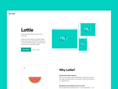 Lottie site animation airbnb landing web open source