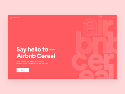 Airbnb Cereal Site interactive website type specimen typography typeface airbnb cereal airbnb