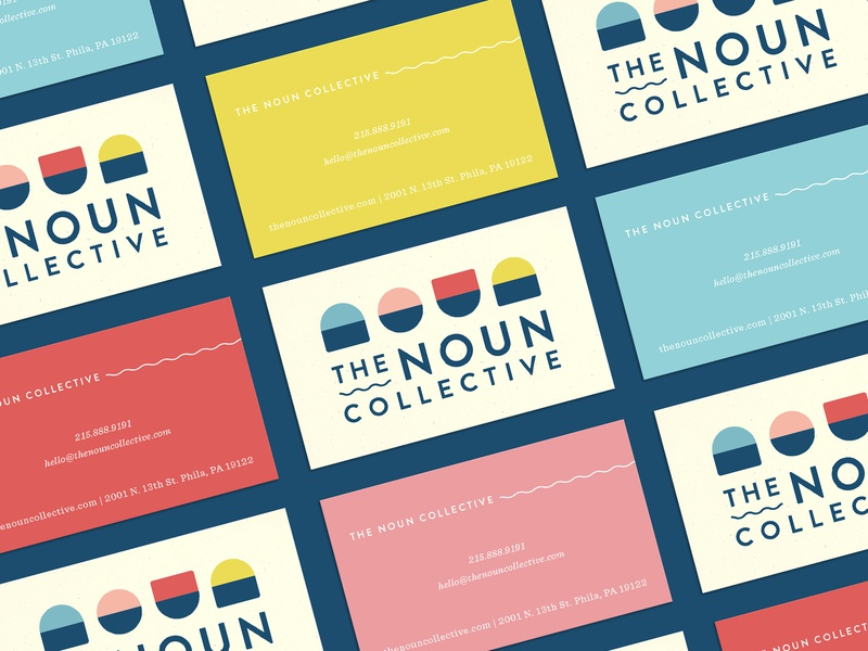 The Noun Collective - Business Cards branding logo design logo branding design business card design stationary design business card design