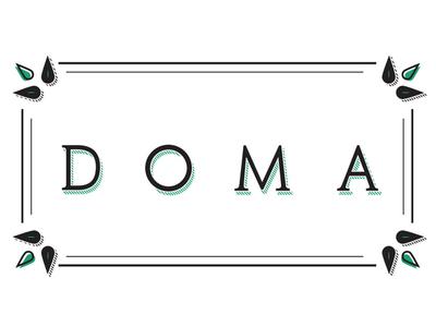 Doma - Logo branding design logo design illustration vector logo typography design branding