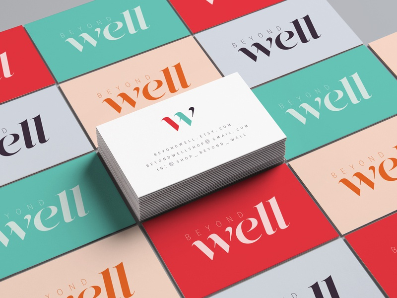 Beyond Well - Business Cards stationary design logo design logo design business card design business card branding design branding