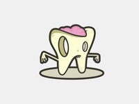 Rotten Bubblegum Brained Zombie Tooth