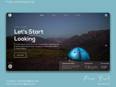 Camper - Landing Page Design design branding landing page ui ux