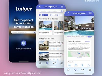 Lodger - Mobile App UX/UI Design branding app design mobile app ux ui design