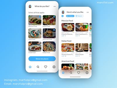Food Ordering App - UX/UI Mobile App Design branding app design mobile app ui ux design