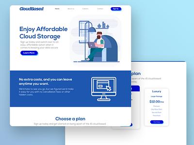 CloudBased - UX/UI Webpage Design web design website landing page ui ux design branding