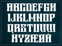 My first display font.