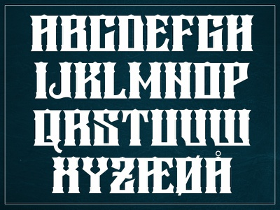 My first display font. sign painting letters upper case glyphs fontlab font design typo lettering typeface typography font