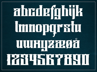 Font - Lower case and numbers.. numbers sign painting letters upper case glyphs fontlab font design font typography typeface lettering typo