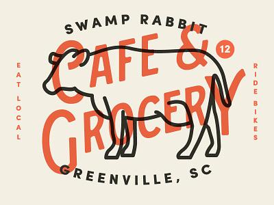 Swamp Rabbit typography icon logo deli bakery food market farmers branding grocery