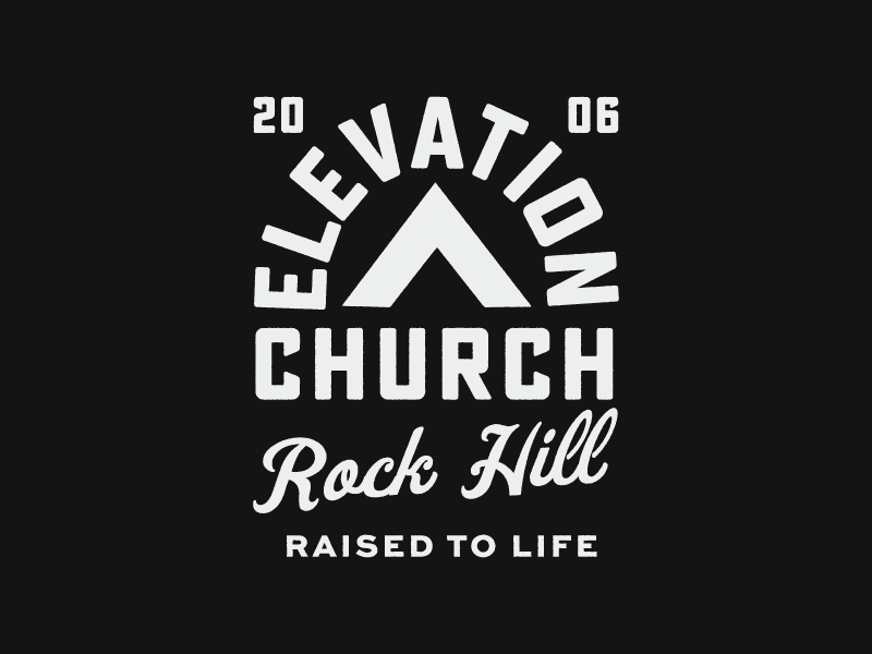 Elevation Badges worship series church hand drawn logo branding texture print typography vintage stamp badge