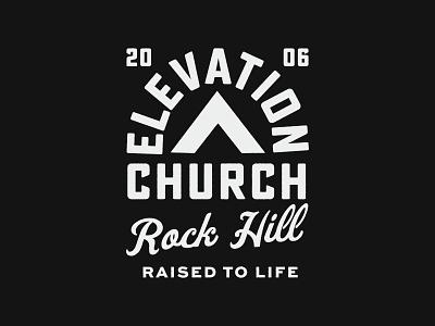 Elevation Badges worship series church hand drawn logo branding texture print typography vintage stamp badge