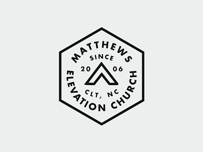 Elevation Badges worship vintage typography texture stamp series print logo drawn church branding badge