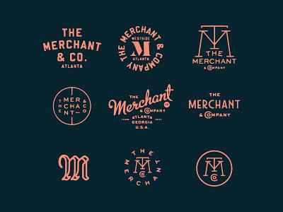 Merchant printed stamp texture logo vintage layout type fun typography branding