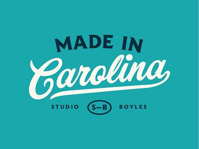 Carolina vintage typography type texture screenprint rough printed logo layout fun branding