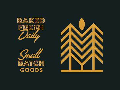 Spruce typography market logo icon grocery food farmers deli branding bakery