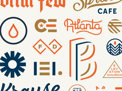 2016 vintage typography type texture stamp screenprint printed logo layout fun branding