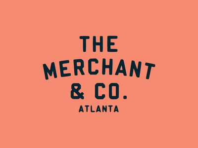 Merchant badge city atlanta line work typography pattern grids system lines logo branding