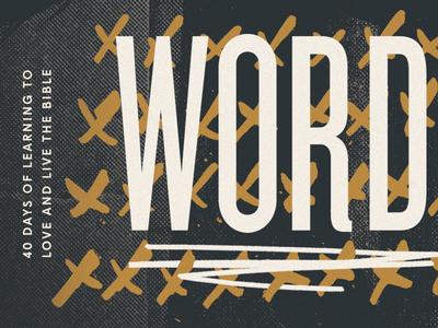 Word series sermon church typography pattern texture system lines logo branding