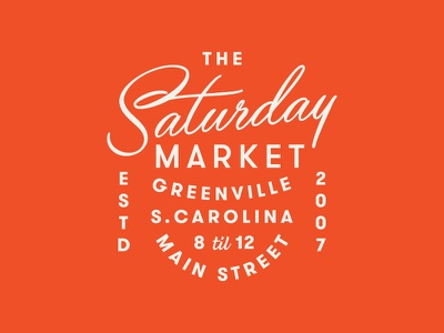 Greenville Market greenville farmers market badge typography pattern grids system lines logo branding