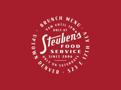 Steubens packaging badge line work typography pattern grids system lines logo branding