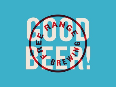 Good Beer packaging badge line work typography pattern grids system lines logo branding