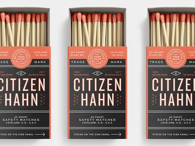 Citizen Hahn typography system pattern packaging logo sign vintage grids branding badge