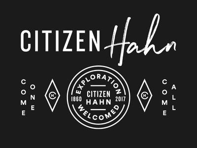 Citizen Hahn packaging badge line work typography pattern grids system lines logo branding