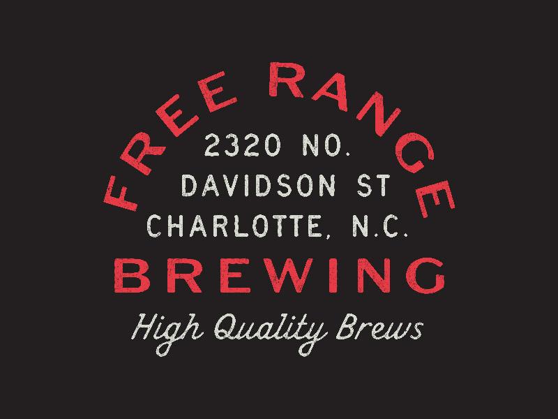 Free Range Brewing typography system pattern packaging logo work line lines grids branding badge
