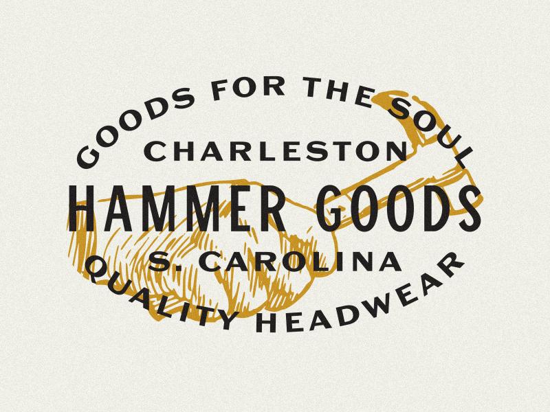 Hammer Goods typography system pattern packaging logo lines illustration grids branding badge