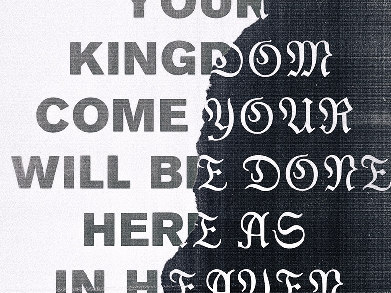 Here as in Heaven church easter typography system pattern packaging logo lines illustration branding badge