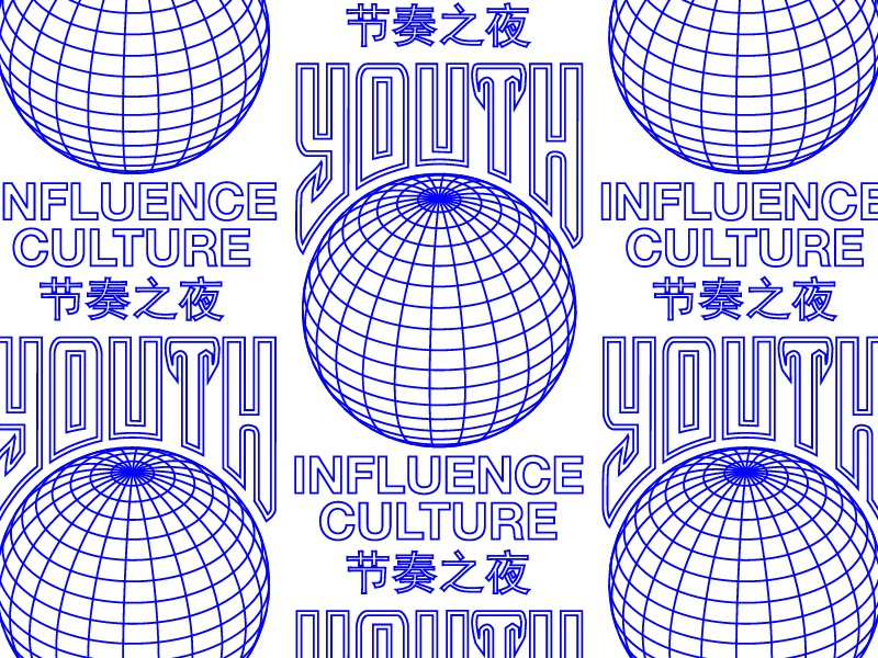 Youth Culture typography system pattern apparel logo lines illustration grids branding badge