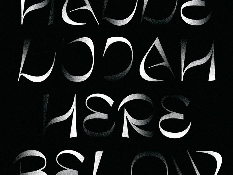 Hallelujah Here Below typography system pattern logo lines illustration grids branding badge apparel
