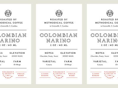 Elevation Worship x Methodical coffee label label coffe system type layout badge logo typography branding
