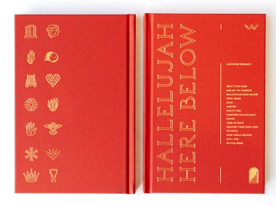 Hallelujah Here Below Book foil stamp book layout book cover book printing foil line work printed packaging texture illustration layout grids system lines pattern badge logo typography branding