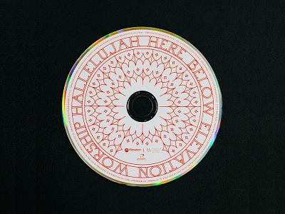 Hallelujah Here Below Disc layout grids lines pattern badge logo typography music album cover design album artwork album cover album art cd packaging cd sleeve cd artwork photo cd design branding album cd