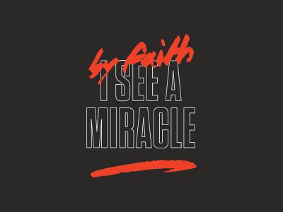 Miracle Shirt screenprint shirt merch music vintage apparel printed type texture pattern badge logo typography branding